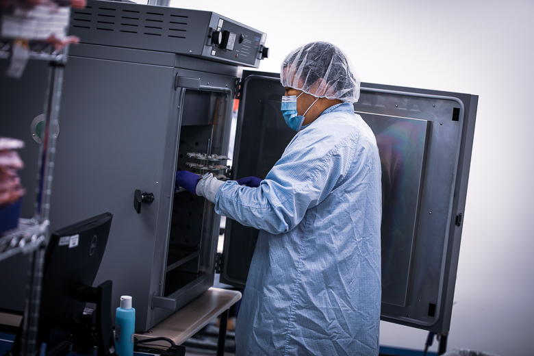 Red Fox Clean Room 2 at Intricon, a global leader in micromedical technology and joint development manufacturer