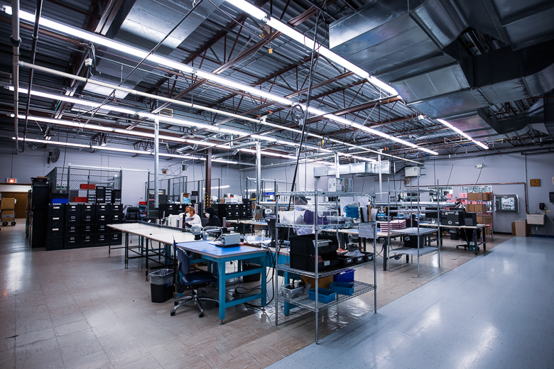 The Red Fox Assembly area at Intricon, a global leader in micromedical technology and joint development manufacturing