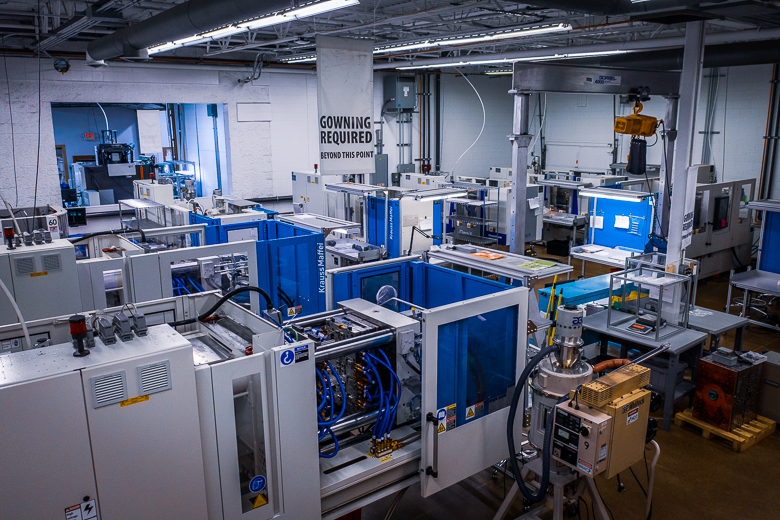 A view of the manufacturing process at Intricon, a global leader in micromedical technology and joint development manufacturer