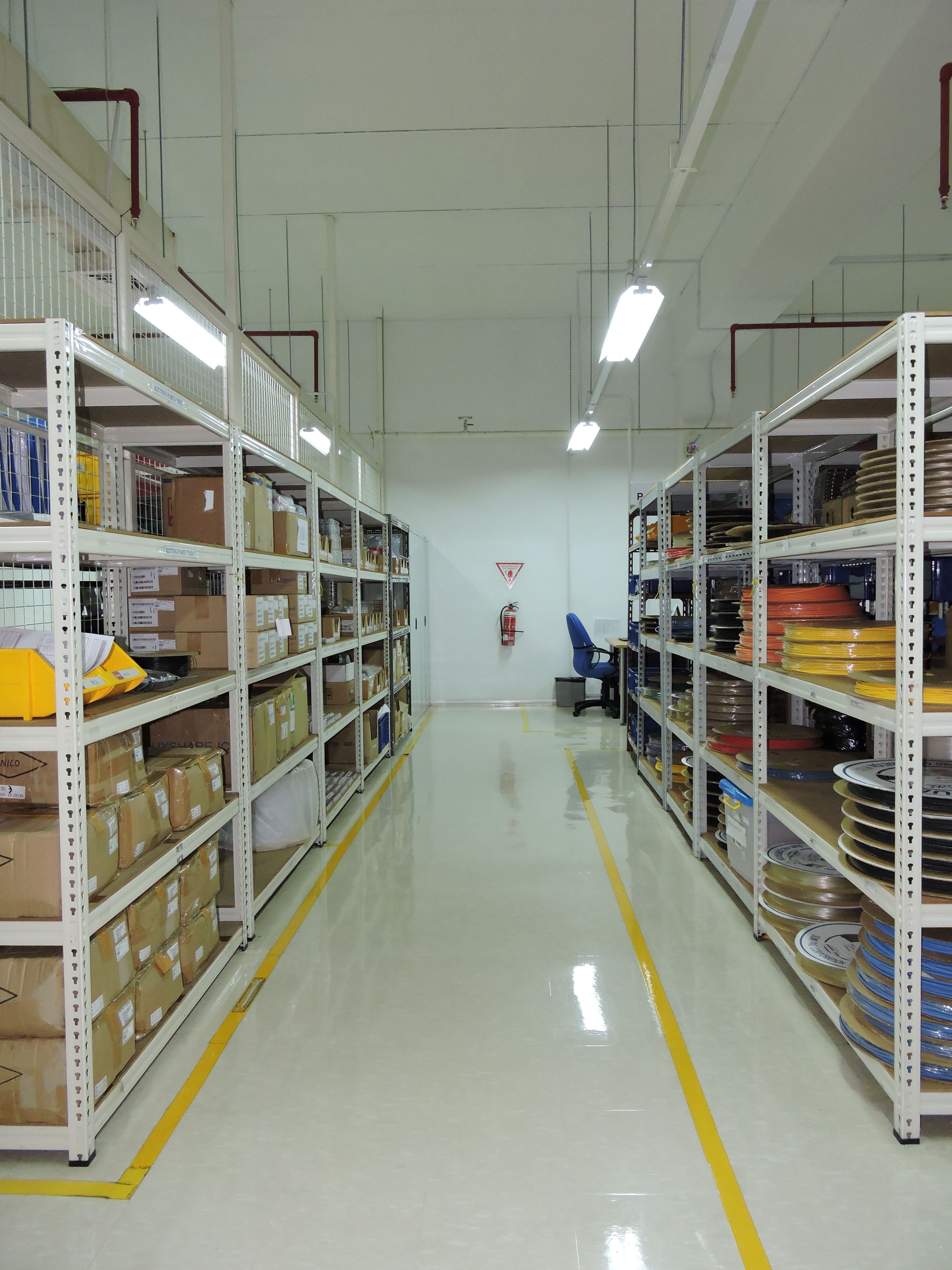 Warehouse space at Intricon, a global leader in micromedical technology and joint development manufacturer